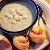 Image of Roasted Garlic And Potato Soup With Ham And Cheese Pinwheel, Publix Super Markets