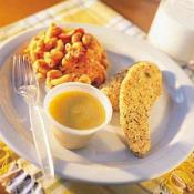 Image of Oven Crisp Tenders With Honey Mustard Dipping Sauce And Tomato Cheez Macaroni, Publix Super Markets