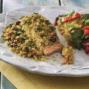 Couscous-crusted Mediterranean Salmon With European Salad
