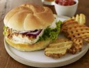 Image of Grilled Fish Sammies With Garlic Tarter Sauce And Baked Waffle Fries With Spicy Ketchup And A Slaw Salad, Rachael Ray