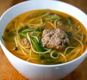 Image of Ginger Garlic Soup With Meatballs, Saveur