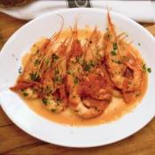 Shrimp with Spicy Garlic and Tomato Sauce