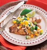 Image of Tandoori Tilapia With Hearts Of Palm Salad: Recipes: Self Com, Self