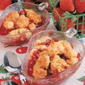 Image of Quick Strawberry Cobbler Recipe, Taste of Home
