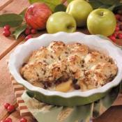 Image of Quick Cran-apple Cobbler Recipe, Taste of Home