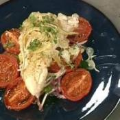 Image of Steamed Chicken, Flageolet Bean, Roast Plum Tomato And Fennel Salad, UK TV