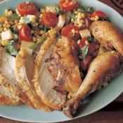 Image of Grilled Chicken With Corn &amp; Mozzarella Salad (hickory Smoked Sea Salt), Williams-Sonoma