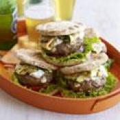 Lamb-feta Burgers With Tzatziki