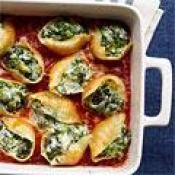 Vegetable And Three-cheese Stuffed Shells