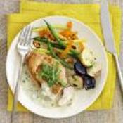 Chicken With Blue Cheese And Arugula