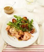 Image of Roasted Salmon And Potatoes With Honey-mustard Vinaigrette, Womans Day