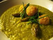 Pea And Asparagus Soup With Rice Balls Recipe