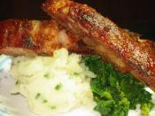 Image of Oven Baked Honey-glazed Baby Back Ribs W Roasted Garlic And Chive Mashed Potatos Recipe, Nibbledish