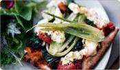 Image of Greek-Style Pizza With Ricotta And Feta, Shape