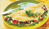 Image of Greek Omelet With Tomatoes And Feta Cheese, Shape