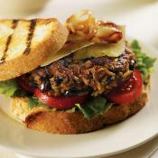 Image of Zatarains Jambalaya And Black Bean Veggie Burgers With Remoulade Sauce, Zatarains