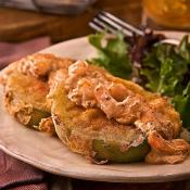 Image of Panfried Green Tomatoes With Shrimp Remoulade, Zatarains