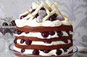 Image of White Chocolate Black Forest Cake, Taste