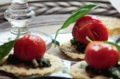 Image of Pesto Tomatoes On Parmesan Crisps, Taste