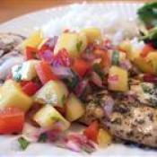 Image of Grilled Tilapia With Mango Salsa, Recipe Key