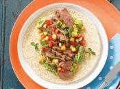 Image of Barbecued Rump Steak Wrap With Corn Salsa, The Main Meal