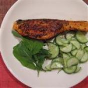 Salmon With Blackened Spices