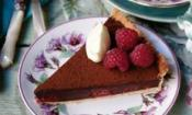 Choc Raspberry Tart