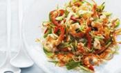 Prawn And Crisp Vegetables Salad With Lime Dressing