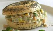 Fresh Bagels With Creamy Turkey, Celery And Roasted Almonds
