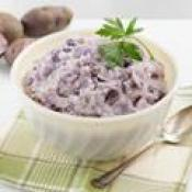 Image of Roasted Garlic Mashed Purple Potatoes, Delish