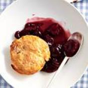 Cherry-Lime Cobbler with Vanilla Cr me Fra che Biscuits